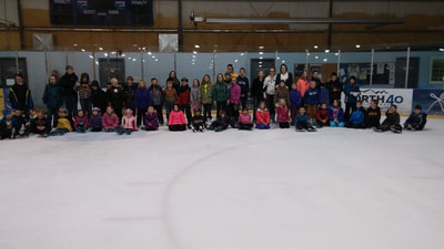 Class at the ice rink